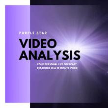 Load image into Gallery viewer, Purple Star Luck Forecast Video Analysis