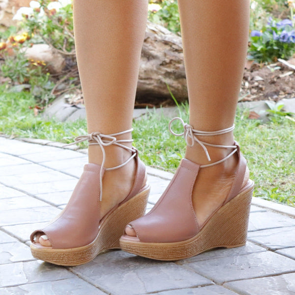 High Wedge Lace-Up - 11195 - Froggie Shoes