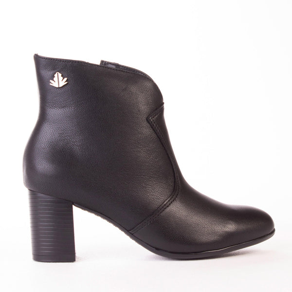 Block Heel Ankle Boot - 11336 - Froggie Shoes