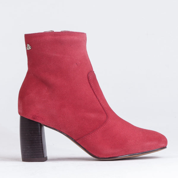 Block Heel Ankle Boot - 11776 - Froggie Shoes