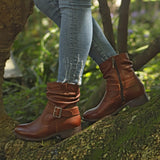 Ruched Buckle Boot - 12017 - Froggie Shoes