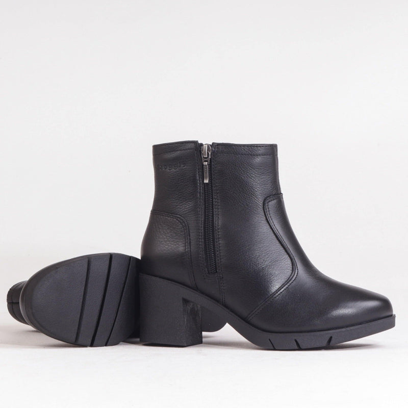 Block Heel Ankle Boot - 12052 - Froggie Shoes