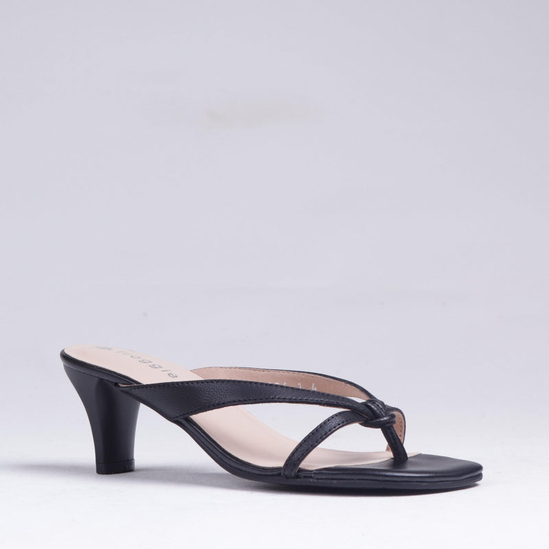 Mid Heel Thong Sandal 12144 - Froggie Shoes