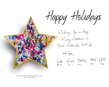 Load image into Gallery viewer, Paperless Personalisable Christmas Star Art Card