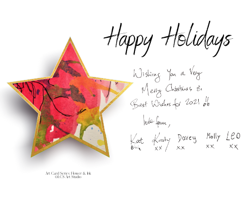 Paperless Personalisable Christmas Star Art Card