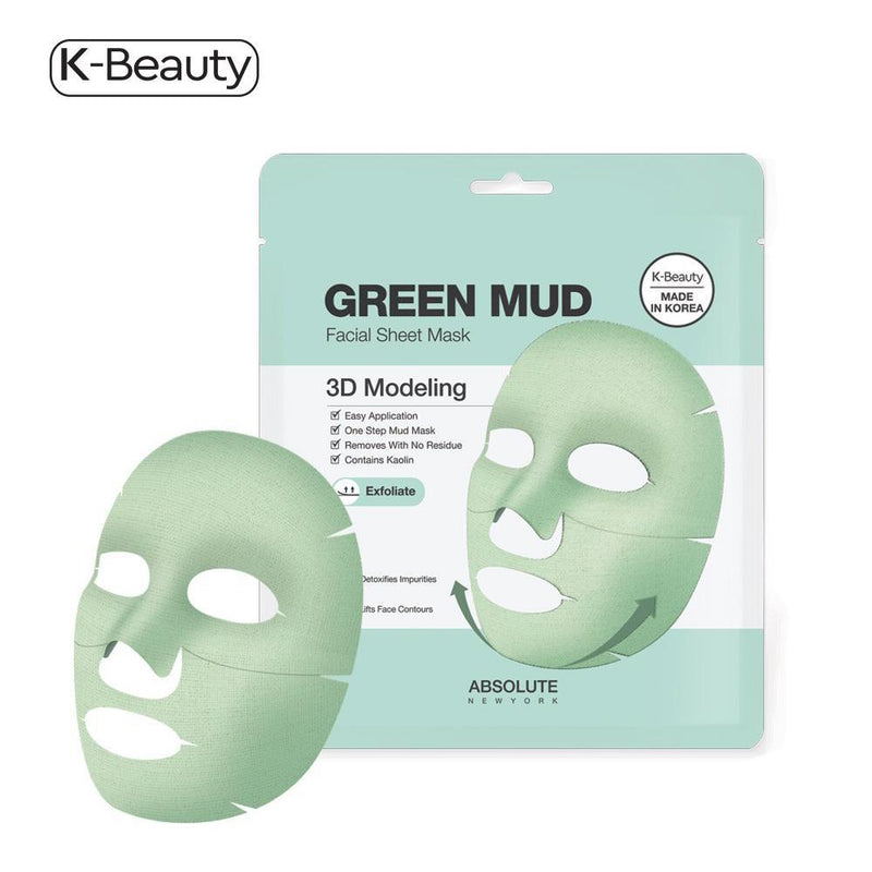 Absolute New York Green Mud Mask 3D Modeling - 1 Pair, 1.6 oz / 45.36 g