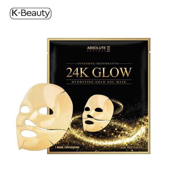 Absolute New York 24K Glow Hydrating Gold Gel Mask - 1 Pair, 1.6 oz / 45.36 g