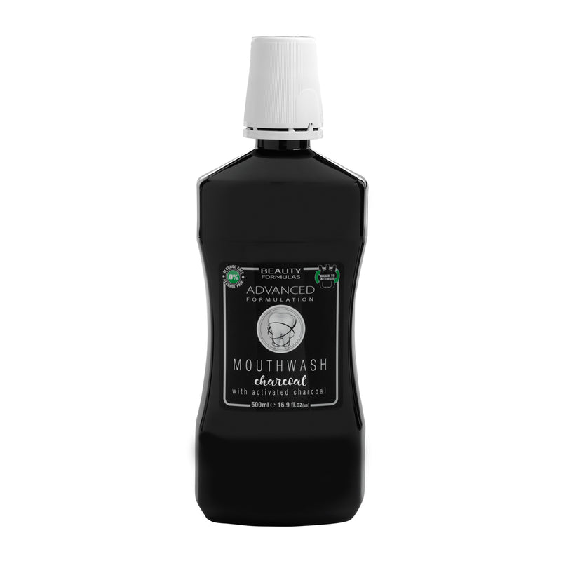 Beauty Formulas ΣΤΟΜΑΤΙΚΟ ΔΙΑΛΥΜΑ 'CHARCOAL' 500ml BF ACTIVE