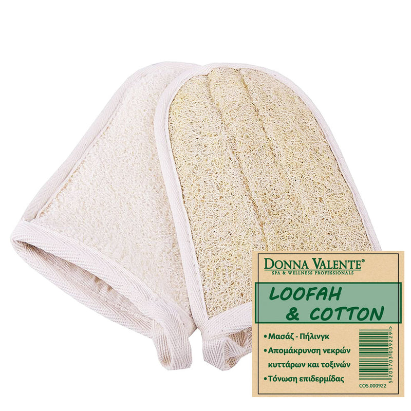 DONNA VALENTE Γάντι Μπάνιου / 100% Natural Loofah & Cotton