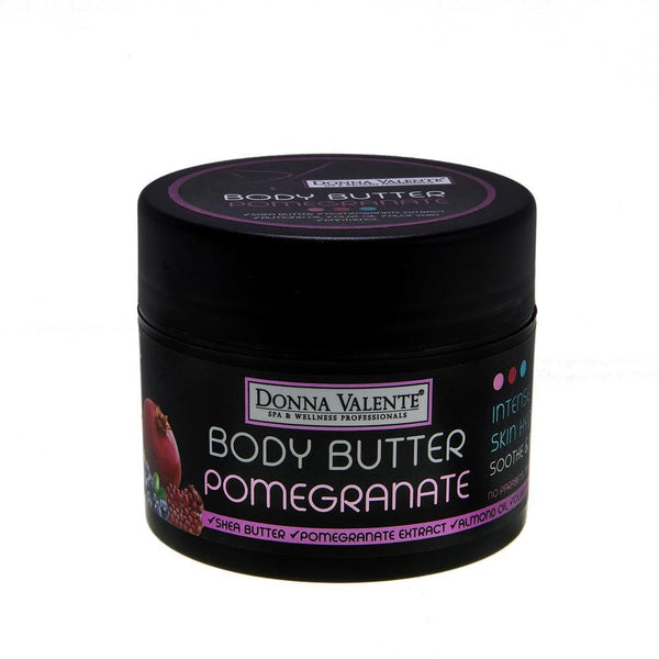 Donna Valente Body Butter Pomegranate - 250ml - Shea Butter - Almond Oil