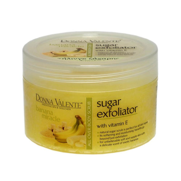Donna Valente Sugar Body Scrub - Banana & Vitamin E - 600g