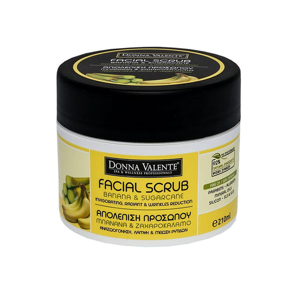 Donna Valente Facial Scrub Banana & Sugarcane - 210ml