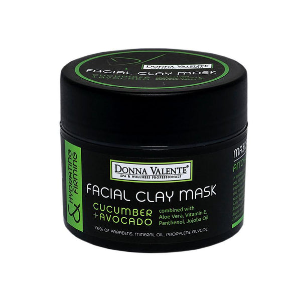 Donna Valente Facial Clay Mask Cucumber & Avocado - 210ml