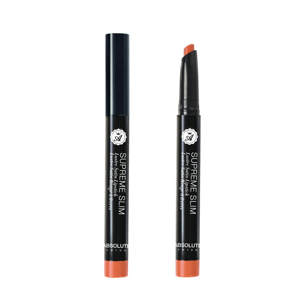 Supreme Slim Lipstick by ABSOLUTE NEW YORK in Fiji (MLSS01) - is a shade of burnt-orange with a luster-satin finish. (0.8 oz / 22.68 g)