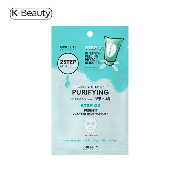 Absolute New York Purifying 2 Step Face Mask - 1 Pair, 1.6 oz / 45.36g