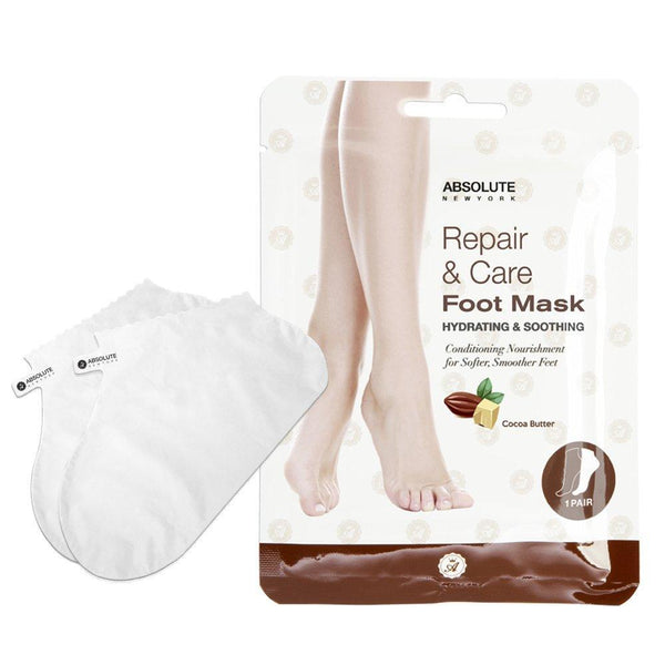 Absolute New York Cocoa Butter Hydrating & Soothing Repair & Care Foot Mask - 1 Pair, 0.8 oz / 22.68 g