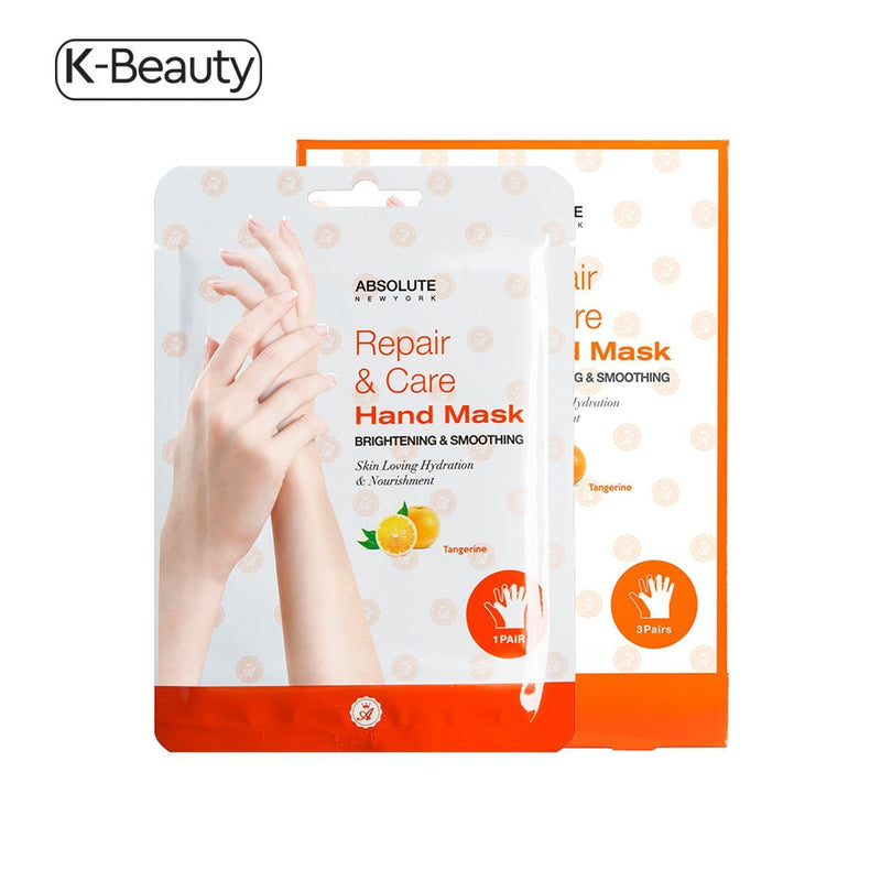 Absolute New York Tangerine Brightening & Smoothing Repair & Care Hand Mask - 1 Pair, 0.8 oz / 22.68 g