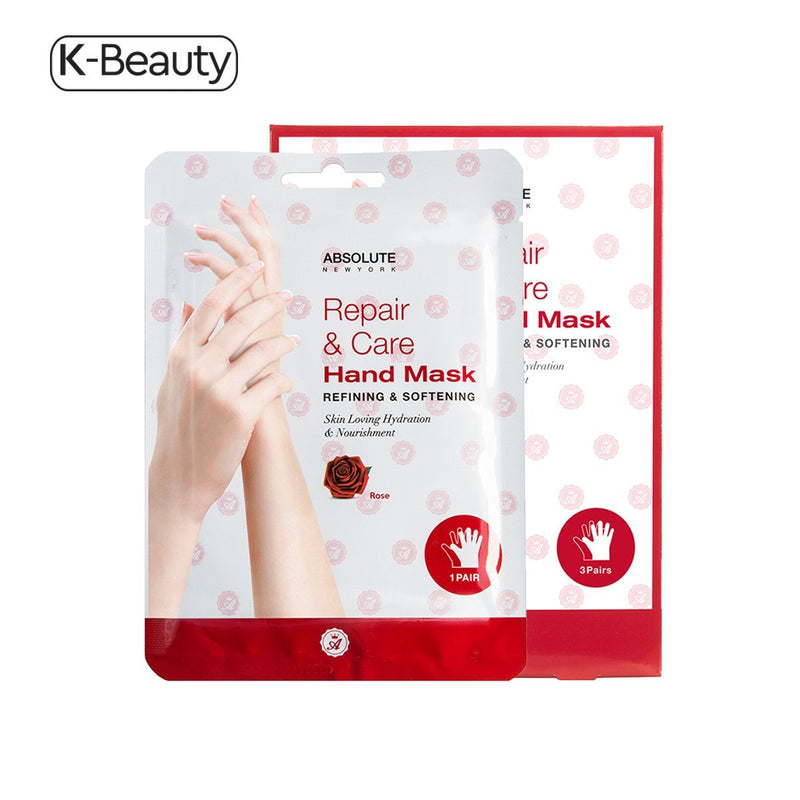 Absolute New York Rose Refining & Softening Repair & Care Hand Mask - 1 Pair, 0.8 oz / 22.68 g