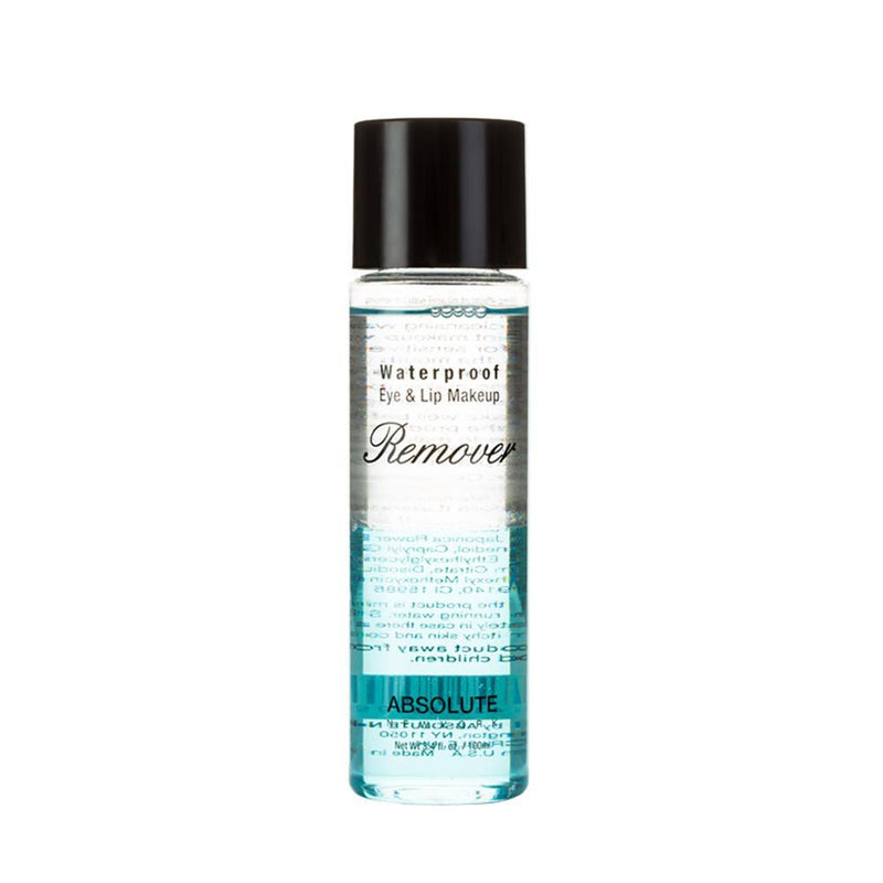 Waterproof Eye & Lip Makeup Remover by ABSOLUTE NEW YORK is an oil-based liquid makeup remover. Standard Size: 3.4 fl oz/100 ml