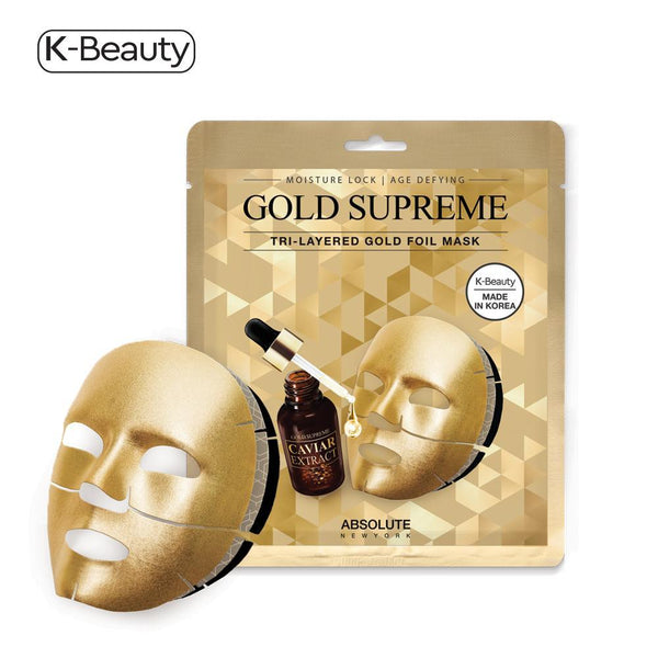 Absolute New York Gold Supreme Tri-Layered Face Mask - 1 Pair, 1.6 oz / 45.36 g