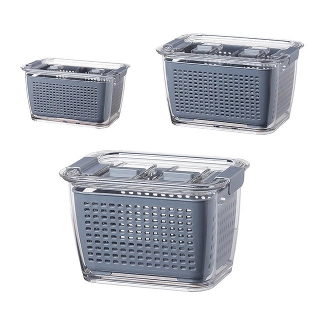 Fresh-Fred-Fruit and vegetable Storage Container