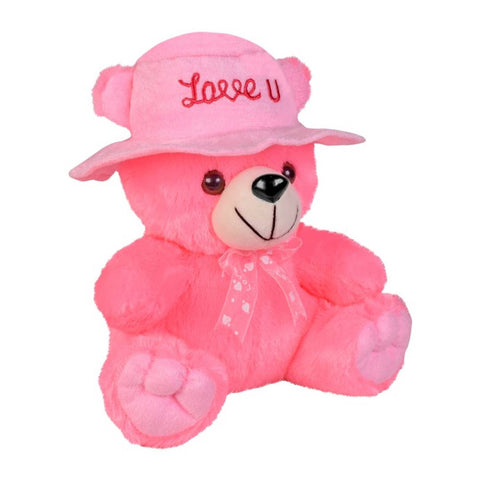 Cap Teddy Soft Toy 9 Inches - Pink