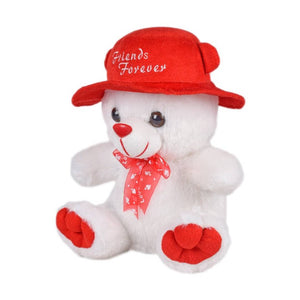 Cap Teddy Soft Toy 9 Inches - White