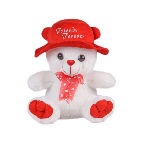 Image of Cap Teddy Soft Toy 9 Inches - White