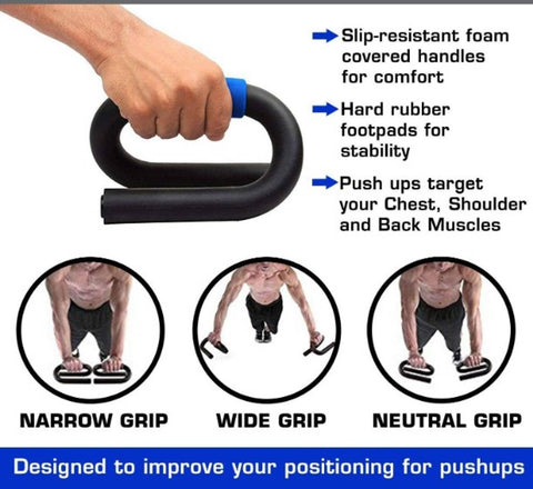 Push Up Bars Stand with Foam Grip Handle for Chest Press (Multi Color)