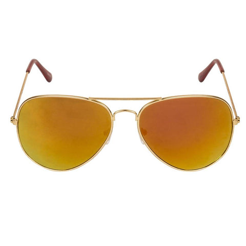 Trendy Orange Aviator Sunglass For Men And Women