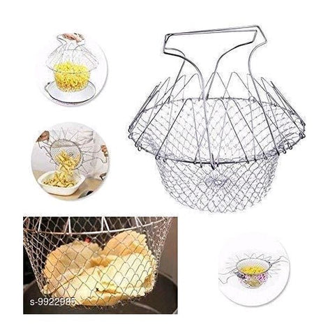 Foldable Stainless Steel Chef Basket