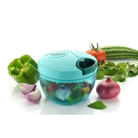 Compact & Powerful Mini Handy Vegetable,Fruit Chopper With 3 Blades