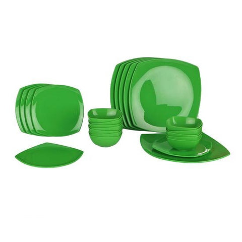 Image of Multicoloured Dinner Set - 24 Pieces