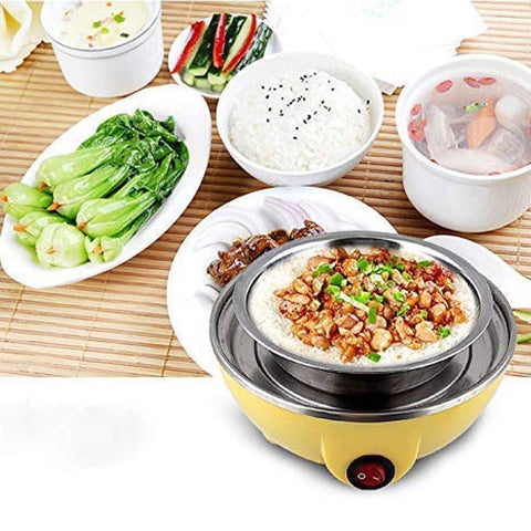 Egg Boiler Electric Automatic 7 Egg Poacher for Steaming, Cooking, Boiling and Frying,