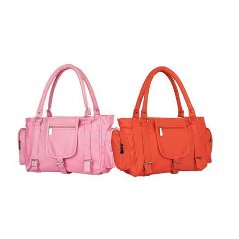 Image of pink orange handbag
