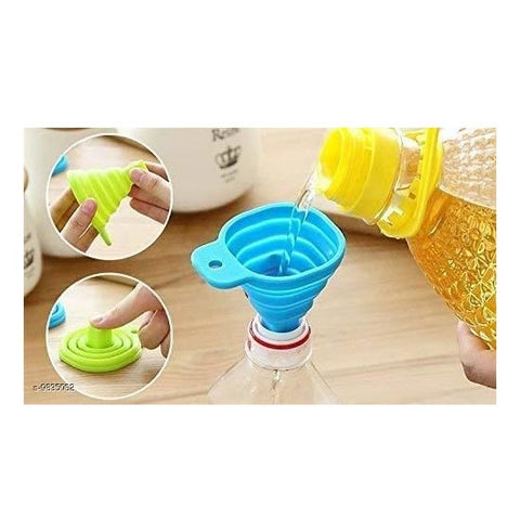 Image of Collapsible Silicone Funnel Helpful in Pouring Liquid