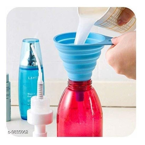 Collapsible Silicone Funnel Helpful in Pouring Liquid