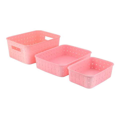 Image of Multipurpose Smart Shelf Basket Set 3 Piece