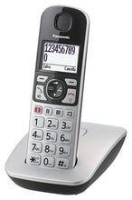 Load image into Gallery viewer, Panasonic KX-TGE510JTS Single Silver Easy to Use Cordless Phone