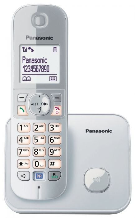 Panasonic KX-TG6811JTS White/Silver Dect Cordless Phone w/Caller ID and Handsfree
