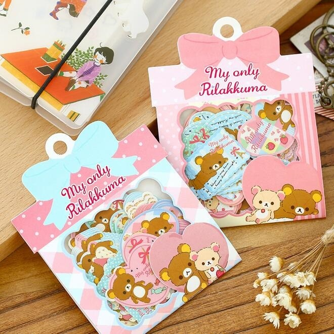 60pcs Pack of Japanese Paper Bear Stickers