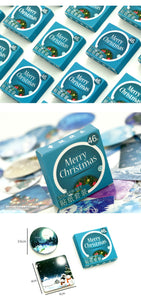 46pcs Mini Box of Christmas Greetings Stickers for Christmas crafts.