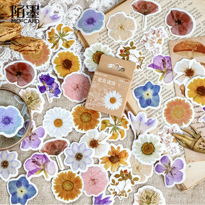 Kawaii Cute Flower Poetry Stickers for Crafts, Scrapbooks and Journals.