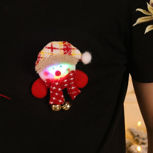 Fun LED Childrens Christmas Brooch Badge.