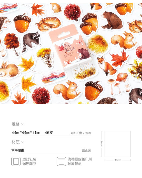 Box of Mini Japanese Autumn Forest Fall Stickers UK