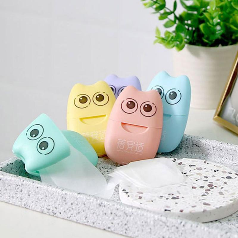 Box of Portable Kawaii Paper Soap. 20pcs Soap in a pack. School and Office Supplies.