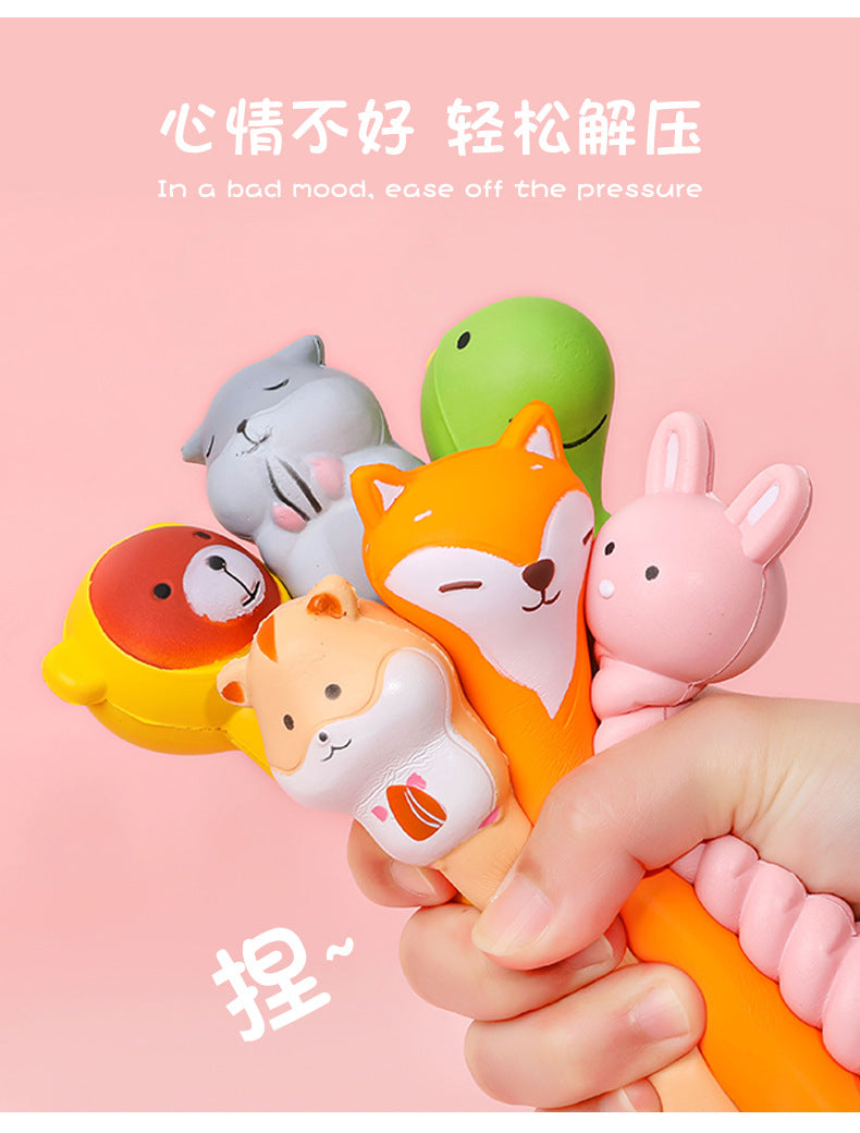 Novelty Cat Squishy Gel Pen. Foam Pen for Stress Relief.