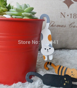 3pcs Lovely Cute Cat Wooden Clips Set.