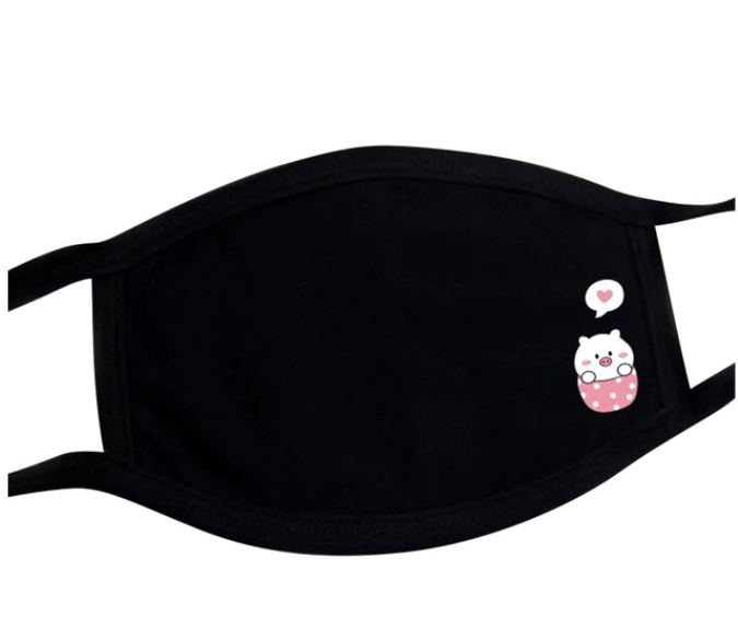 Cute Kawaii Character Animal Black Adult Masks. Available in Dog, Pig and Cat Designs.
