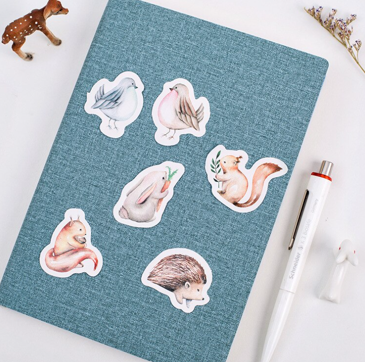 40pcs Mini Box of Forest Animal Stickers for Planners, Journals and Scrapbooks UK